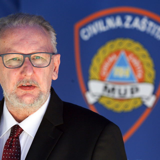 Interior Minister Davor Bozinovic
