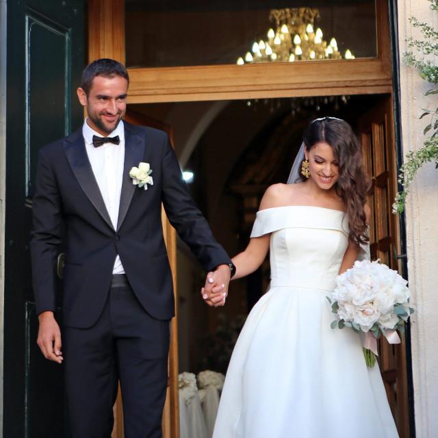 Svadba Marina Čilića i Kristine Milković održala se krajem travnja u crkvi Svetog Nikole u Cavtatu