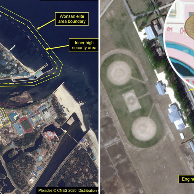 Wonsan na satelitskim snimkama i Kim Jong-un