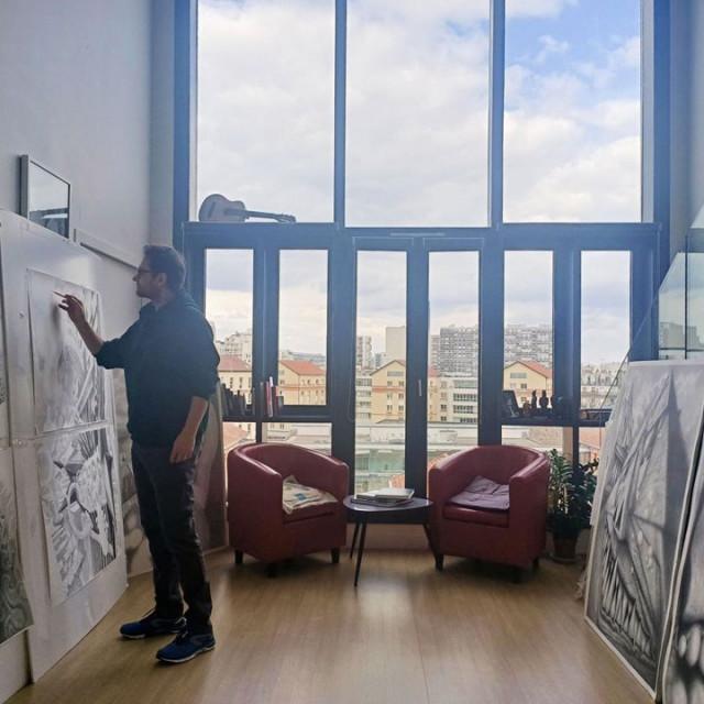 Davor Vrankić, work in progress, atelje Paris