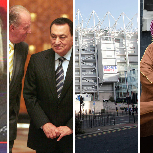 S lijeva na desno: Rifat al Asad, Hosni Mubarak, stadion Newcastlea, Mohamed bin Salman