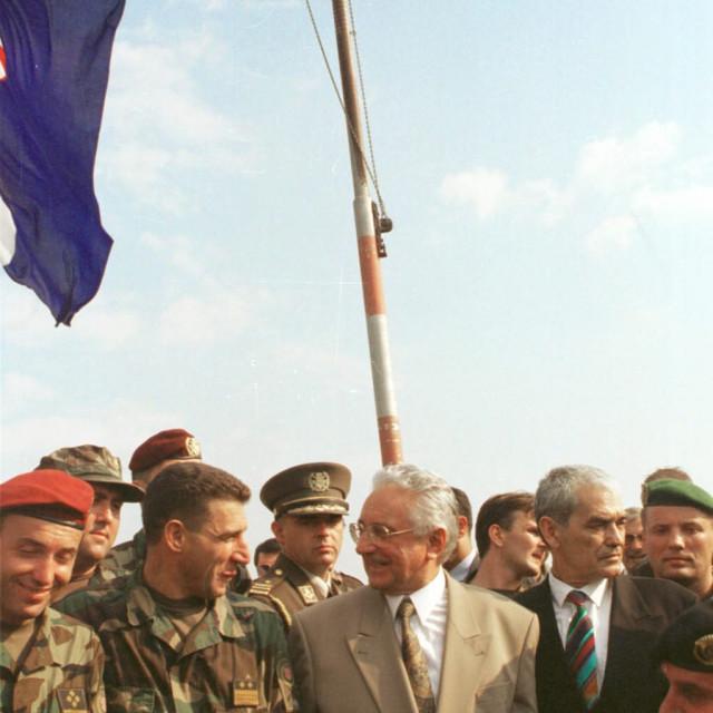 Damir Krstičević, Ante Gotovina, Franjo Tuđman i Gojko Šušak
