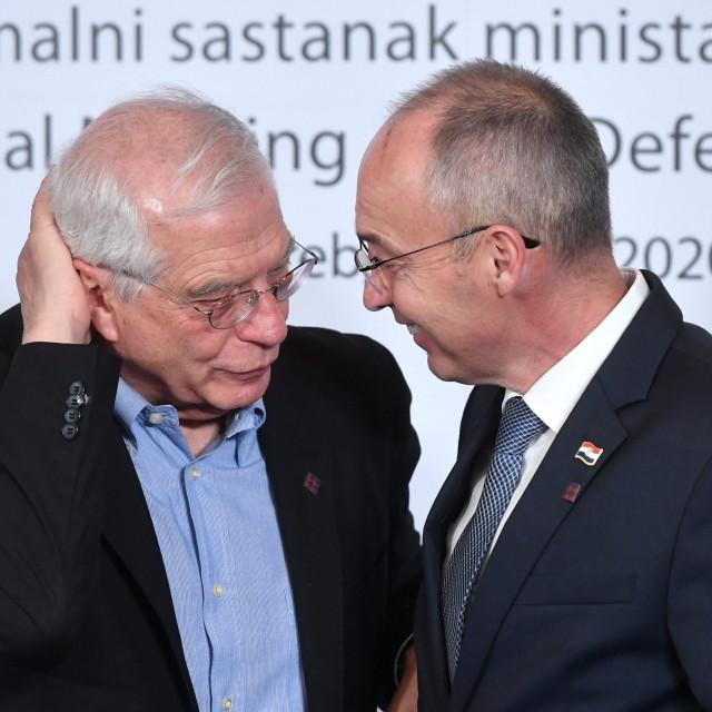 Visoki predstavnik EU Josep Borrell i hrvatski ministar obrane Damir Krstičević