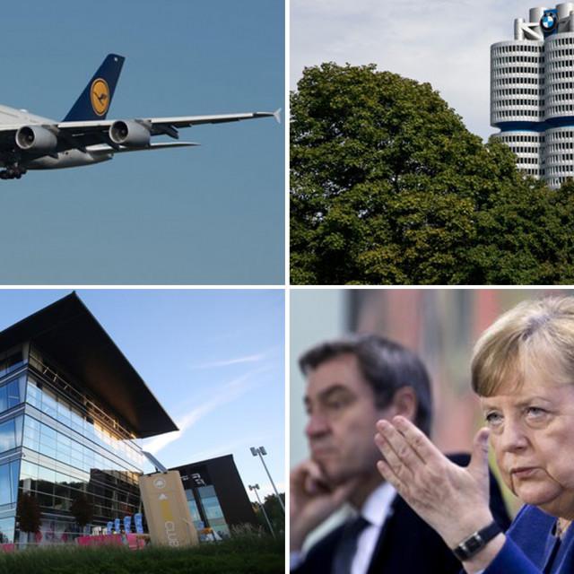 Avion Lufthanse, sjedište BMW-a, zgrada Adidasa i Angela Merkel