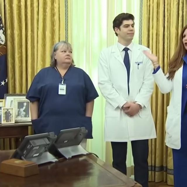 Trump i medicinska sestra