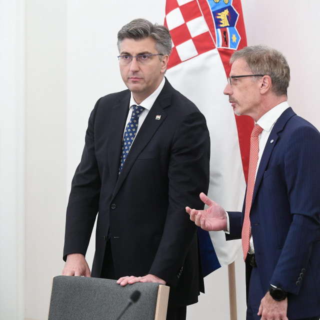 Andrej Plenković i Boris Vujčić