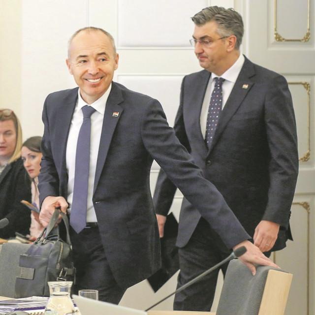 Damir Krstičević i Andrej Plenković