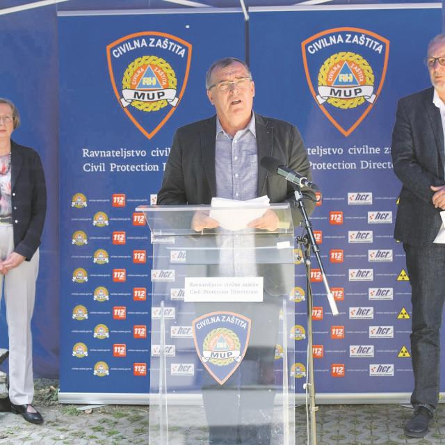 Alemka Markotić, Krunoslav Capak i Davor Božinović