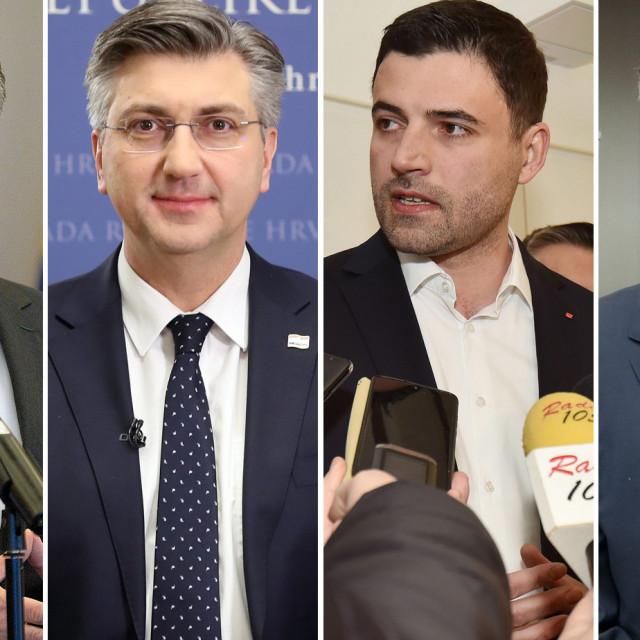 Zoran Milanović, Andrej Plenković, Davor Bernardić, Miroslav Škoro