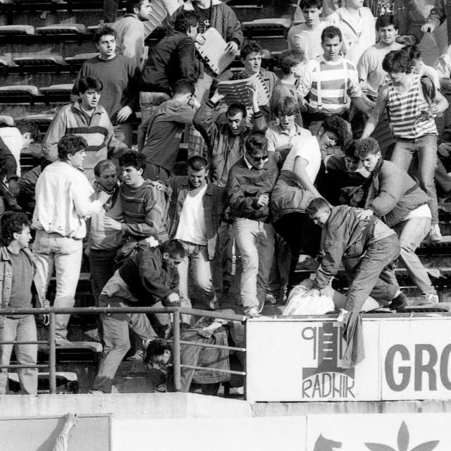 Neredi na nikad odigranoj utakmici Dinamo - Crvena Zvezda, 13. svibanj 1990.