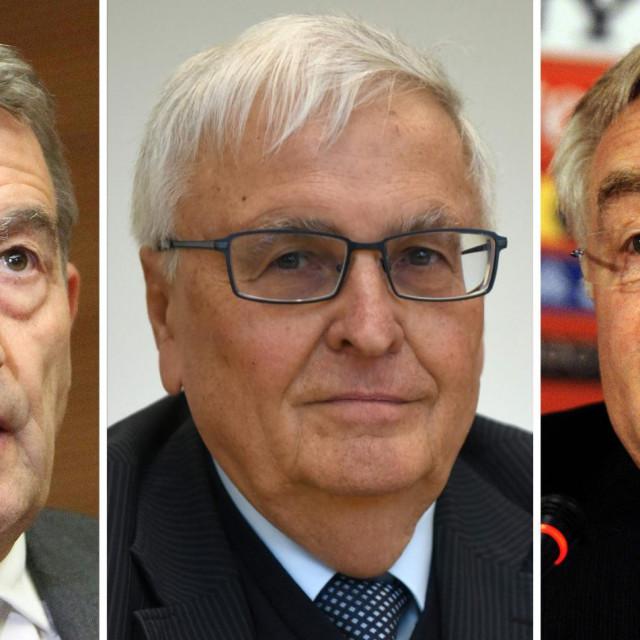 Slijeva nadesno: Wolfgang Niersbach, Theo Zwanziger i Horst Schmidt (Photo by AFP)