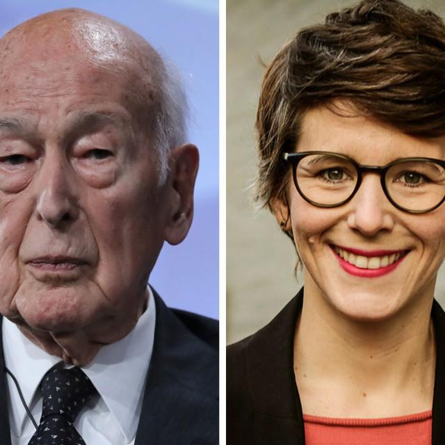 Valery Giscard d'Estaing (lijevo) i Ann-Kathrin Stracke (desno)