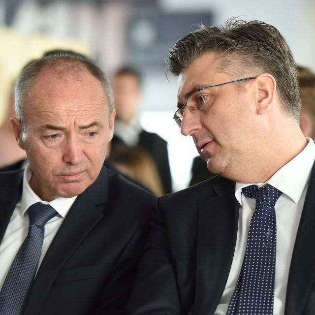 Damir Krstičević i Andrej Plenković, arhivska fotografija
