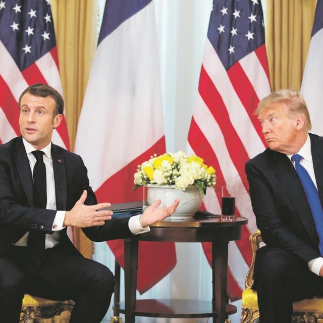 Emmanuel Macron i Donald Trump