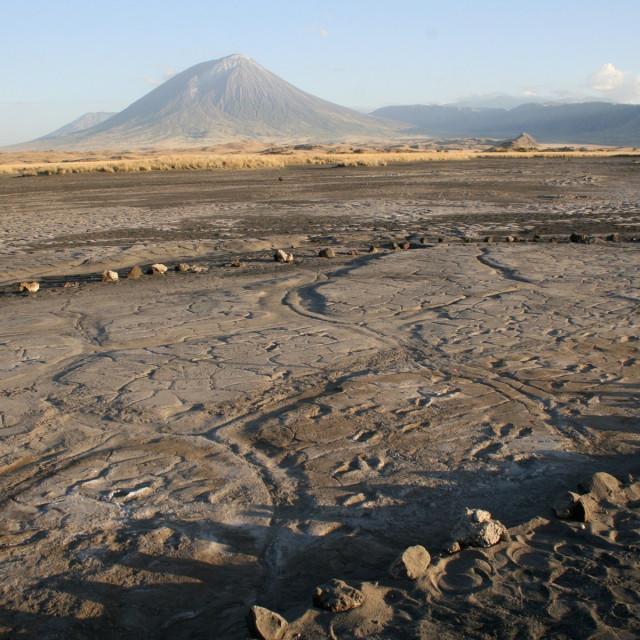 otisci stopala na lokaciji Engare Sero, južno od jezera Natron u Tanzaniji