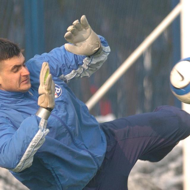 Vladimir Vasilj na jednom od treninga Dinama dok je igrao za Modre