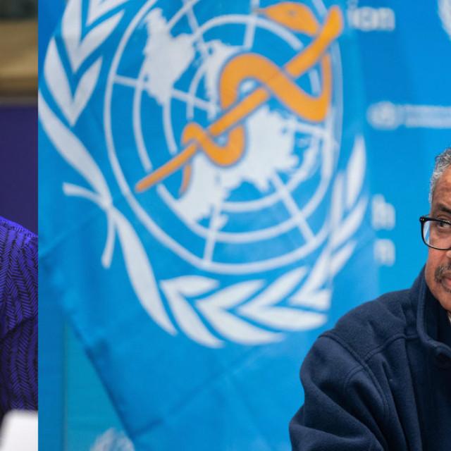 Lijevo; Povjerenica Europske komisije za međunarodna partnerstva Jutta Urpilainen i glavni tajnik Svjetske zdravstvene organizacije Dr. Tedros Adhanom Ghebreyesus