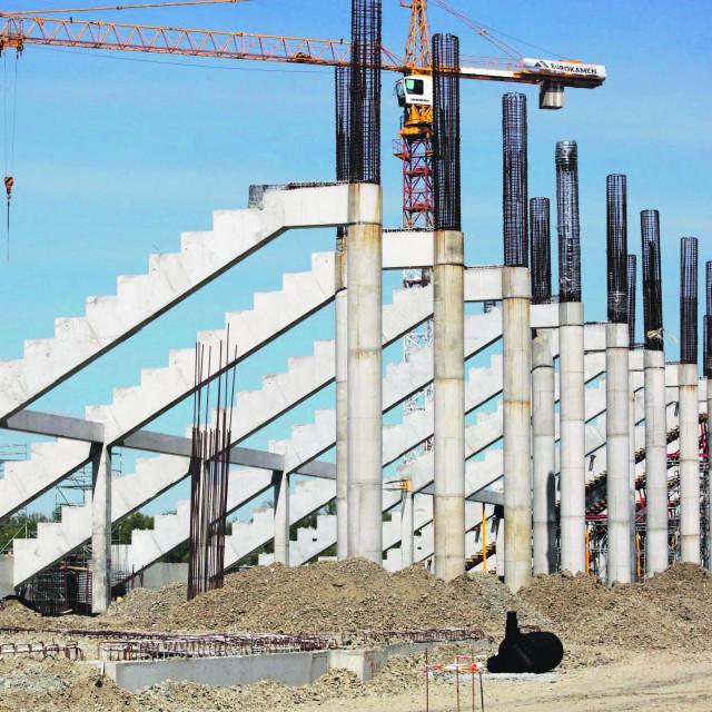 Gradilište stadiona NK Osijeka na Pampasu u osječkom naselju Retfala