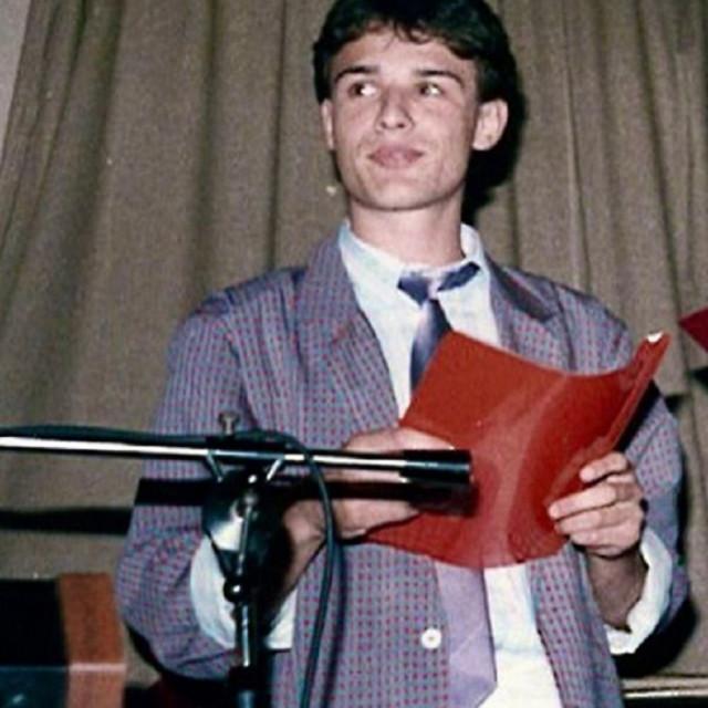 Gordan Jandroković na svojoj maturalnoj zabavi 1986. godine