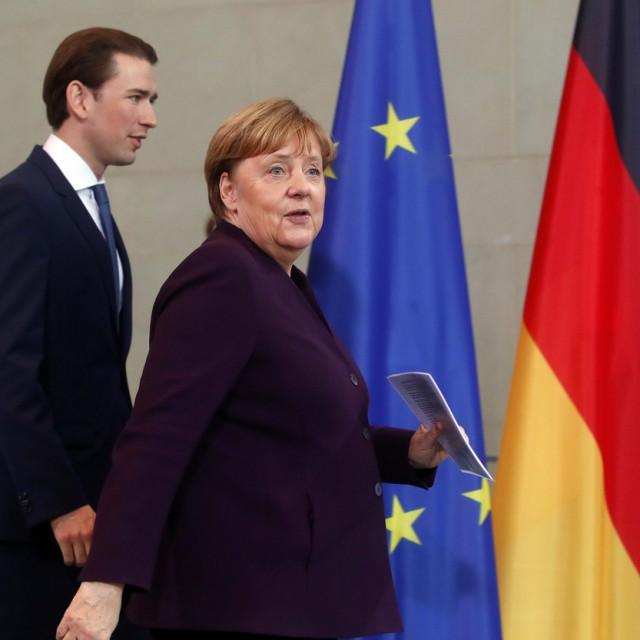 Sebastian Kurz i Angela Merkel