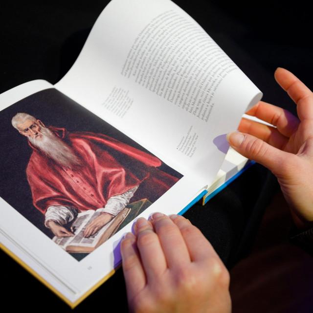 ilustracija svetog Jeronima iz knjige 'Sveti Jeronim Dalmatinac' Slobodana Prosperova Novaka
