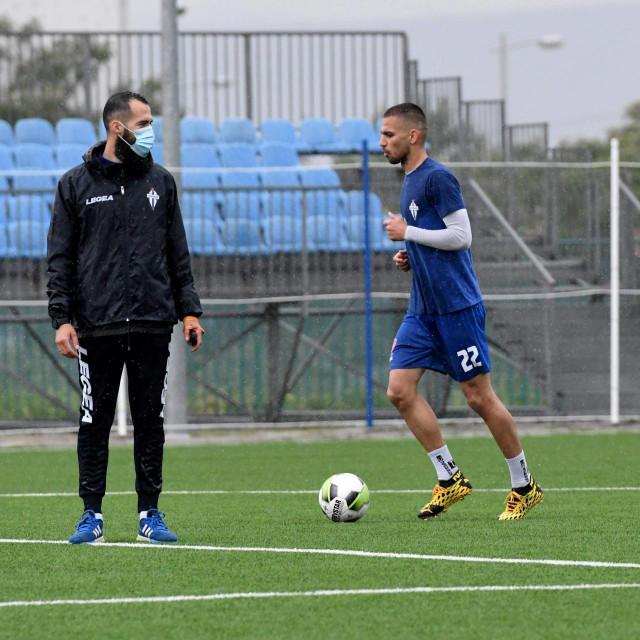 Nogometaš Budućnosti Stefan Milić trenira u Podgorici