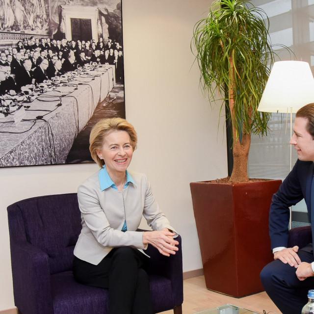 Ursula von der Leyen, predsjednica Europske komisije i austrijski kancelar Sebastian Kurz