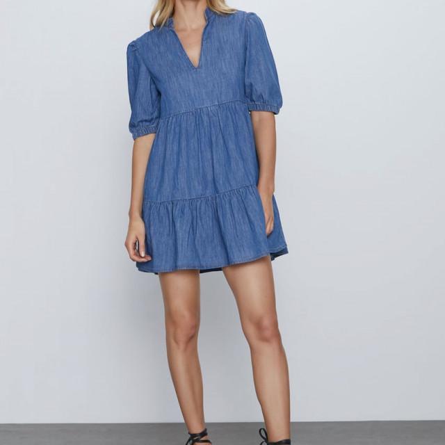 Kratka traper haljina, Zara, 179,90 kuna
