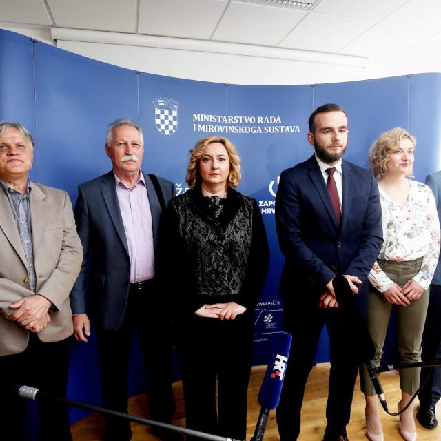 Branimir Mihalinec (drugi s lijeva), Sanja Šprem, Josip Aladrović