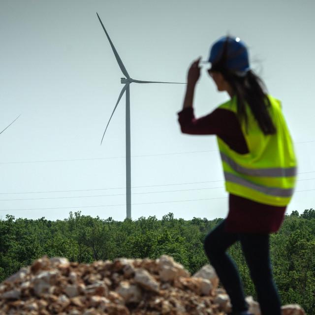 Gradilište Vjetroelektrane Krš-Pađene snimljeno u travnju 2019. godine