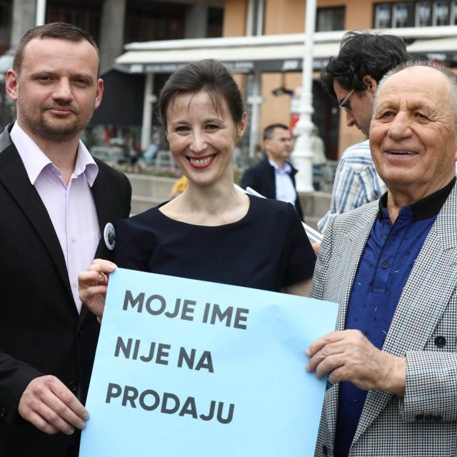 Viktor Šimunic, Dalija Orešković i njen otac Nikola Orešković