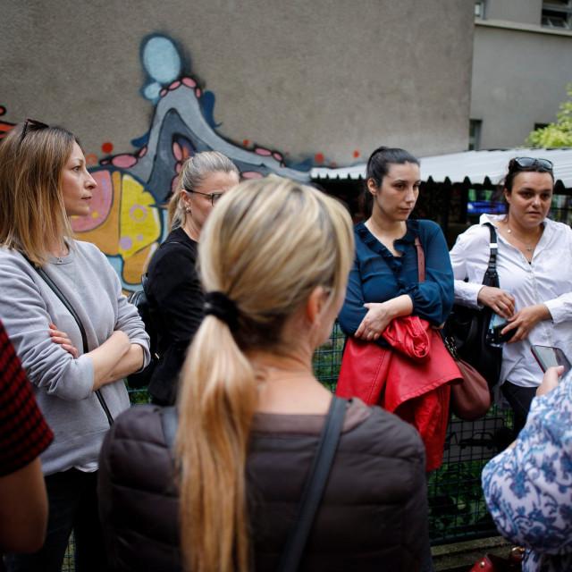 Prosvjed roditelja učenika OS Petar Zrinski u Krajiškoj ulici