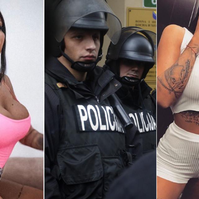 Tijana Ajfon snimljena neposredno nakon uhićenja