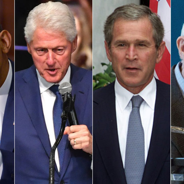 Barack Obama, Bill Clinton, George W. Bush, Jimmy Carter
