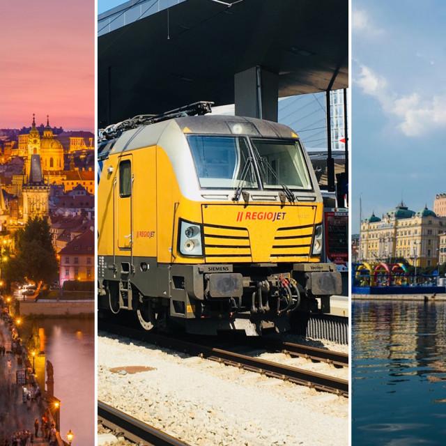 Prag, vlak RegioJeta i Rijeka