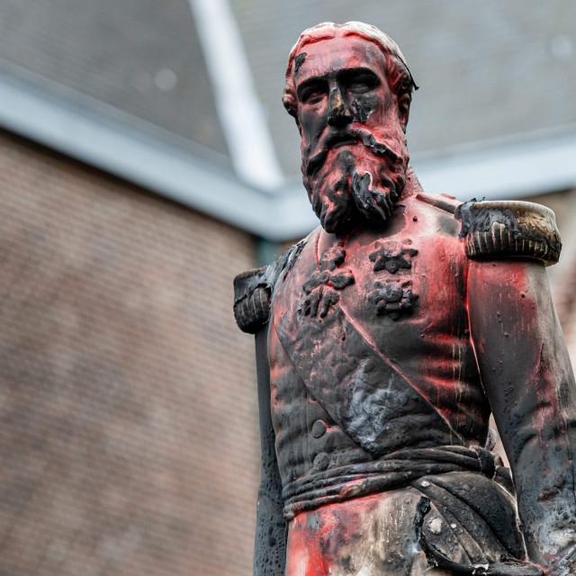kip belgijskog kralja Leopolda II. u Antwerpenu