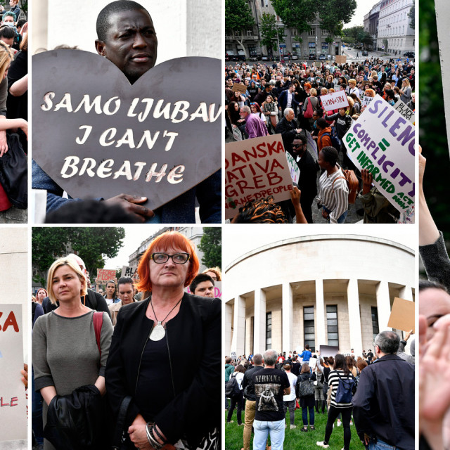 Prosvjed Black Lives Matter u Zagrebu