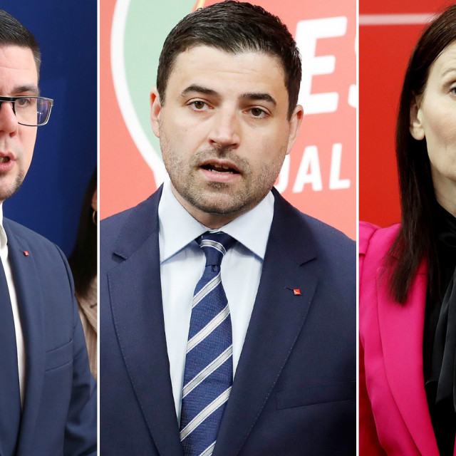 Domagoj Hajduković, Davor Bernardić i Sabina Glasovac
