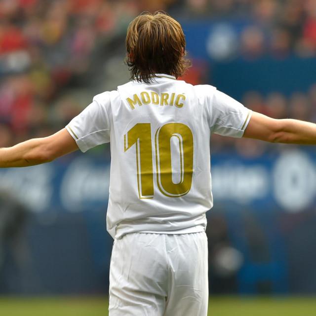 Luka Modrić u utakmici iz veljače ove godine