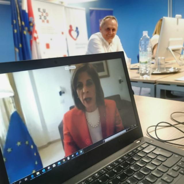 Europska povjerenica za zdravstvo Stella Kyriakides izravno se obratila sudionicima konferencije_1