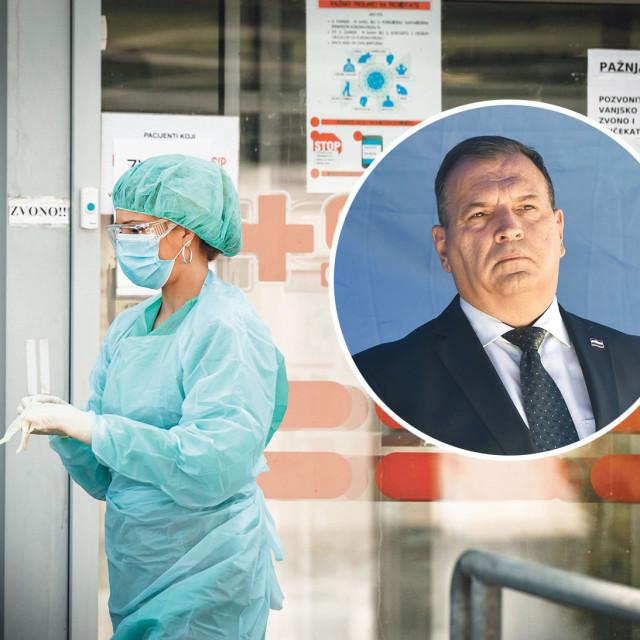 ministar zdravstva Vili Beroš (u krugu)