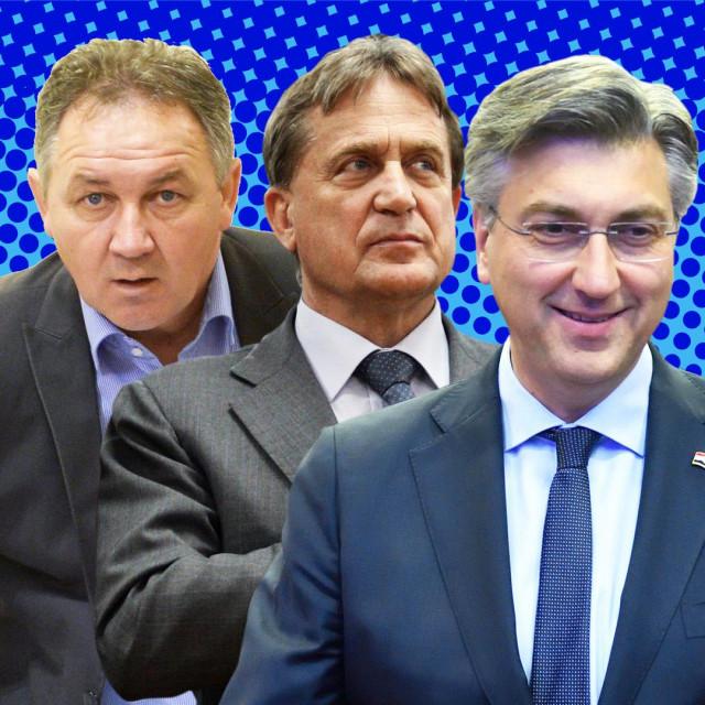 Stevo Culej, Božidar Kalmeta i Andrej Plenković