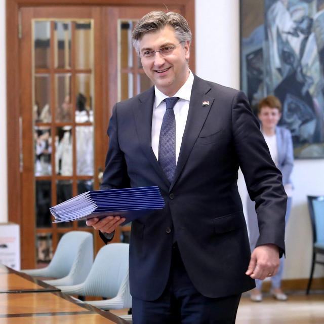 Hrvatska demokratska zajednica predala je DIP-u liste za parlamentarne izbore 2020. Na fotografiji: Andrej Plenković