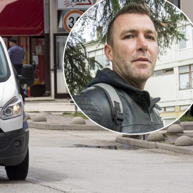Opljačkana poslovnica OTP banke u Opuzenu. U krugu: Ivo Matičević