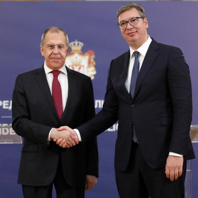 Sergej Lavrov i Aleksandar Vučić u Beogradu