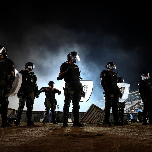 Policija pazi na red tijekom nedavnog derbija Crvene zvezde i Partizana