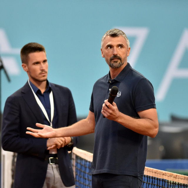 Goran Ivanišević i Đorđe Đoković