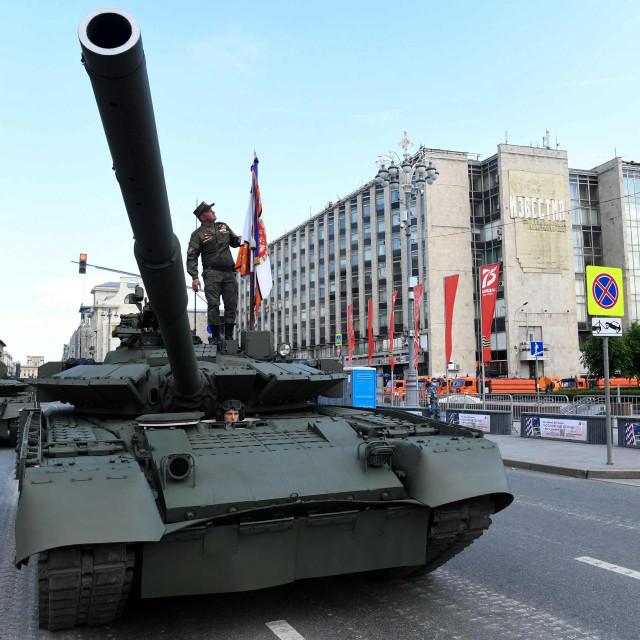 vježba za vojni mimohod u Moskvi