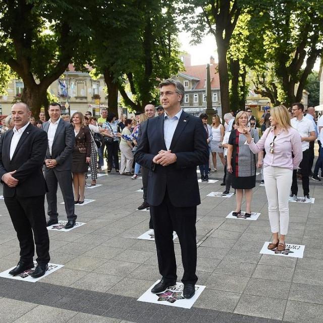Andrej Plenković s kandidatima 7. izborne jedinice u Karlovcu