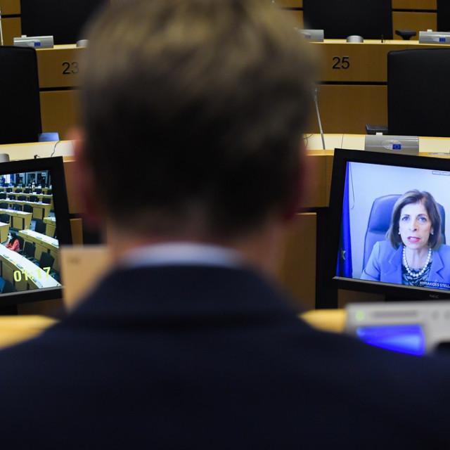 Odbor za zdravlje i sigurnost hrane Europskog parlamenta tijekom video sastanka s povjerenicom Komisije Stellom Kyriakides